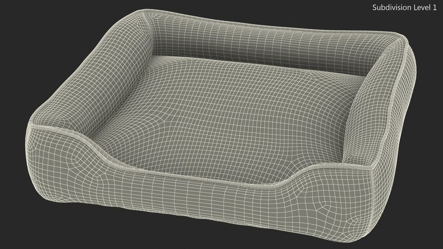 Pet Bed Generic royalty-free 3d model - Preview no. 13