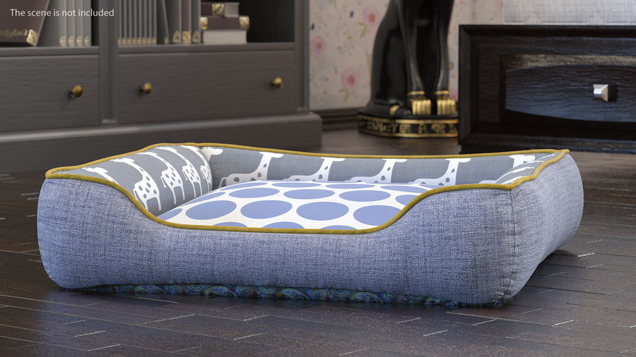 Pet Bed Generic royalty-free 3d model - Preview no. 3
