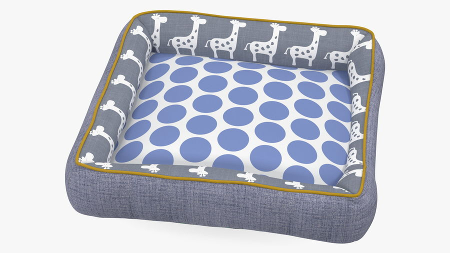 Pet Bed Generic royalty-free 3d model - Preview no. 7