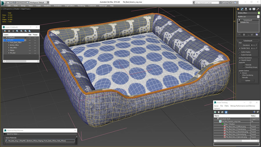 Pet Bed Generic royalty-free 3d model - Preview no. 18