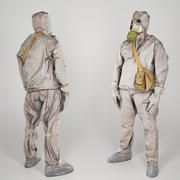 Soviet Liquidator of nuclear accident of Chernobyl 58 3d model