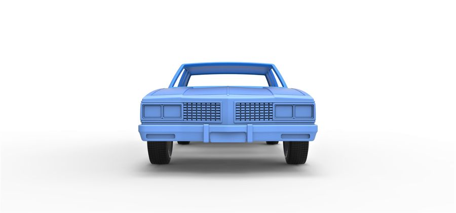Diecast shell and wheels old school car Scale 1 to 25 royalty-free 3d model - Preview no. 6