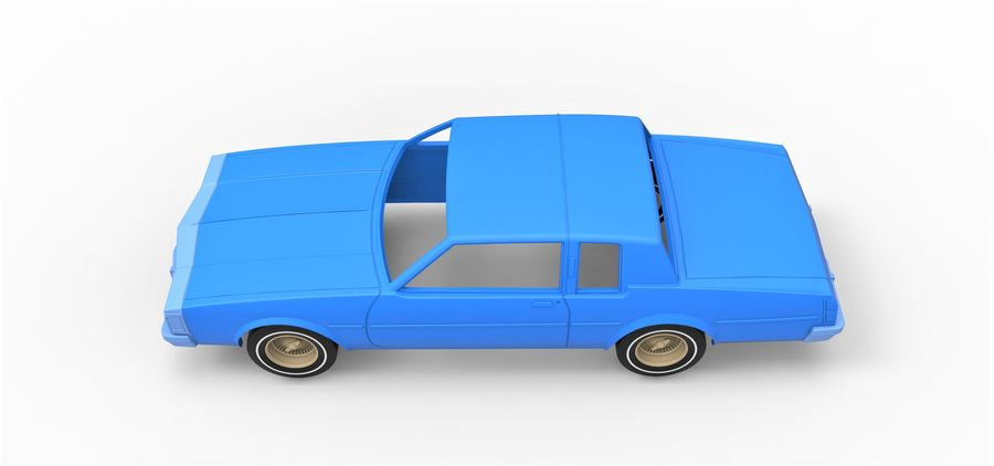 Diecast shell and wheels old school car Scale 1 to 25 royalty-free 3d model - Preview no. 8