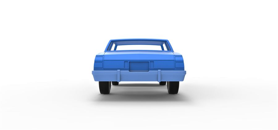Diecast shell and wheels old school car Scale 1 to 25 royalty-free 3d model - Preview no. 13