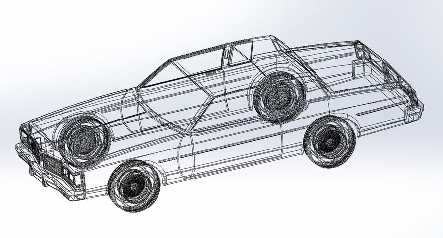 Diecast shell and wheels old school car Scale 1 to 25 royalty-free 3d model - Preview no. 18