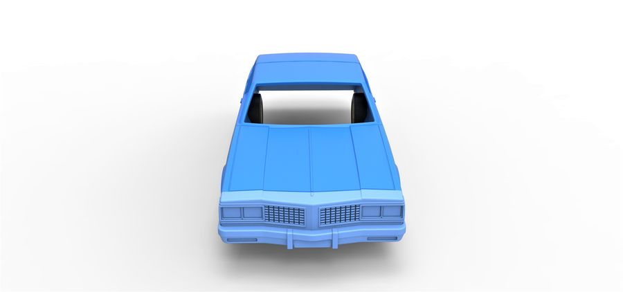 Diecast shell and wheels old school car Scale 1 to 25 royalty-free 3d model - Preview no. 5