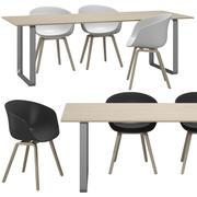 Cadeira HAY e Muuto Table 3d model