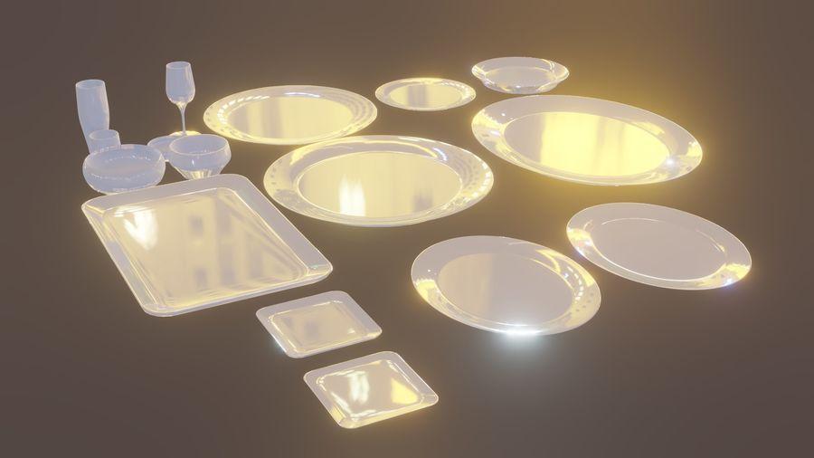 식사 테이블 자산 royalty-free 3d model - Preview no. 1