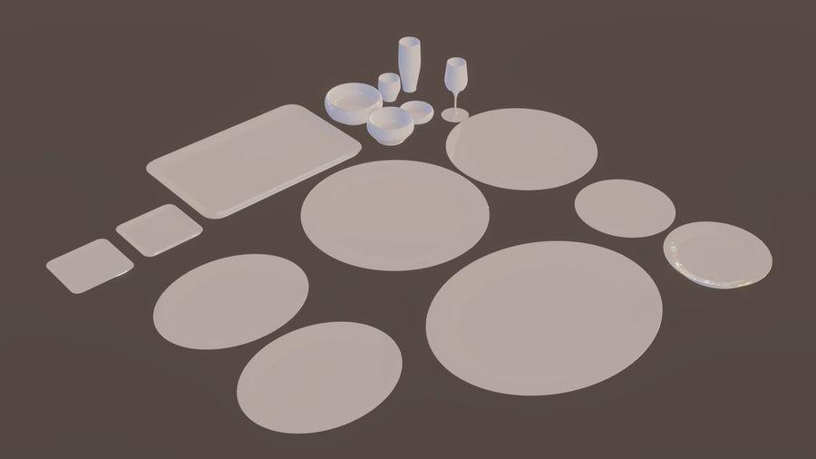 식사 테이블 자산 royalty-free 3d model - Preview no. 2