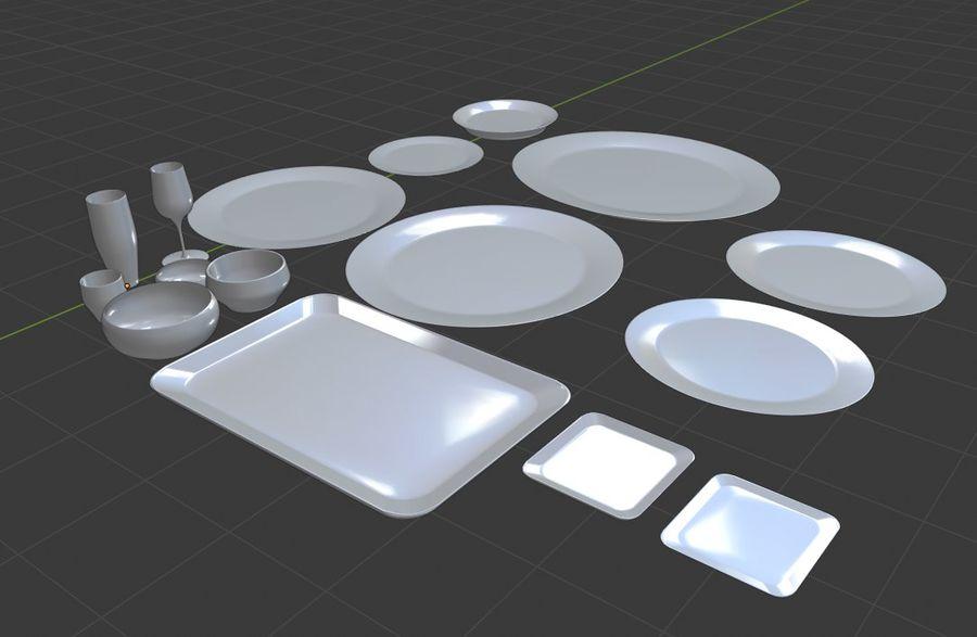 식사 테이블 자산 royalty-free 3d model - Preview no. 5