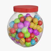 罐子里的口香糖01 3d model