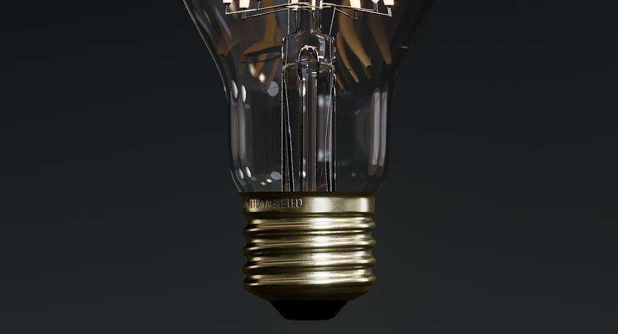 Lampadina vintage 6 royalty-free 3d model - Preview no. 7