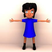 Çizgi film kadın 3d model