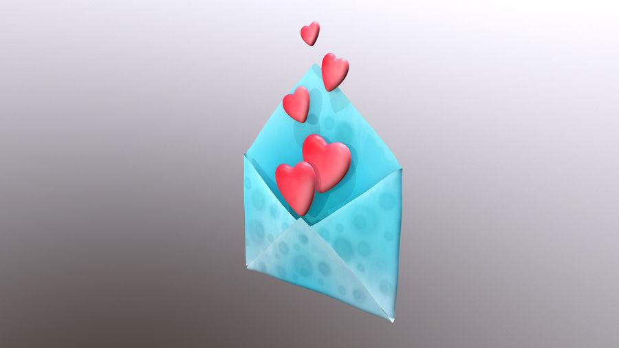 Sobre de San Valentín royalty-free modelo 3d - Preview no. 3
