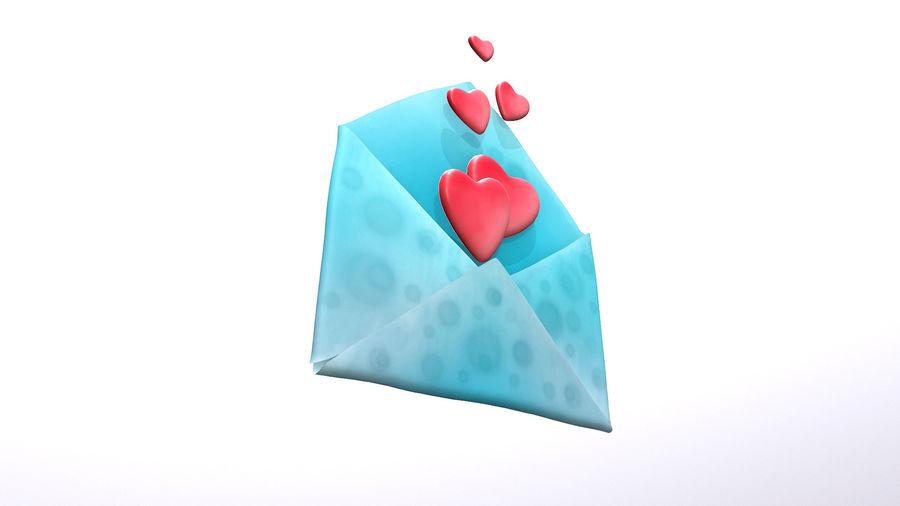 Sobre de San Valentín royalty-free modelo 3d - Preview no. 5