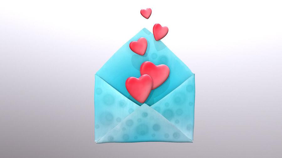 Sobre de San Valentín royalty-free modelo 3d - Preview no. 2