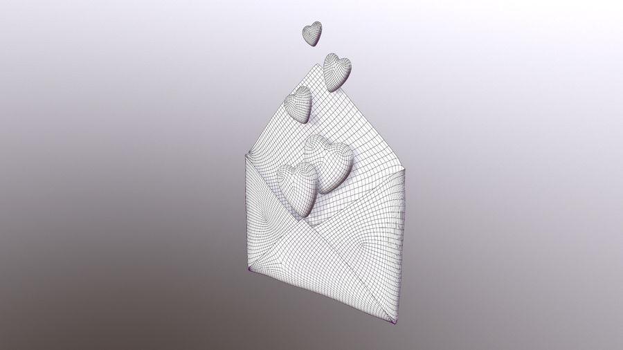 Sobre de San Valentín royalty-free modelo 3d - Preview no. 7