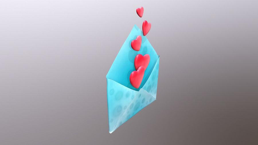 Sobre de San Valentín royalty-free modelo 3d - Preview no. 4