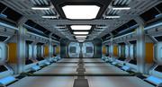 공상 과학 복도 3d model