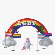 LGBT-community-symboler 3d model