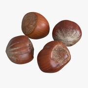 Неочищенные лесные орехи 3d model