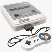 SNES Super Nintendo Entertainment System-console 3d model