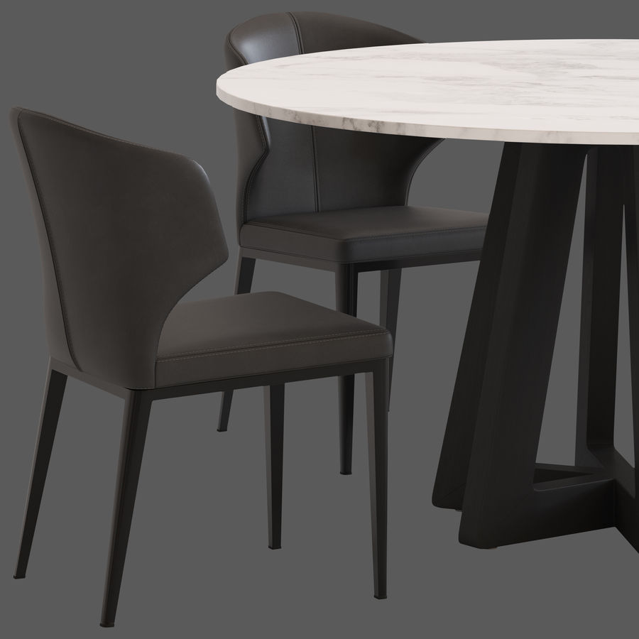 Coco Republic Montara Table And Franco Chair 3d Model 21 Obj Fbx Max Unknown Free3d