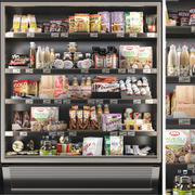 Showcase in een supermarkt 3d model