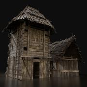 Holzsilo-Lagergebäude der nächsten Generation 3d model