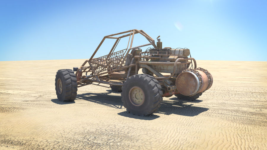 BUGGY royalty-free 3d model - Preview no. 6