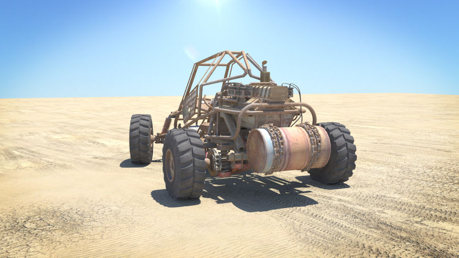 BUGGY royalty-free 3d model - Preview no. 7