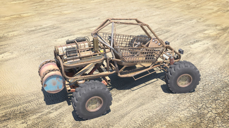 BUGGY royalty-free 3d model - Preview no. 8