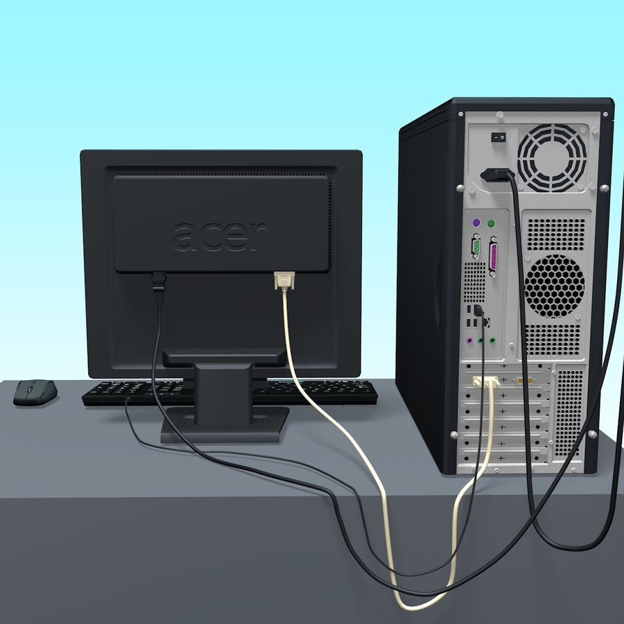 Computer royalty-free 3d model - Preview no. 5