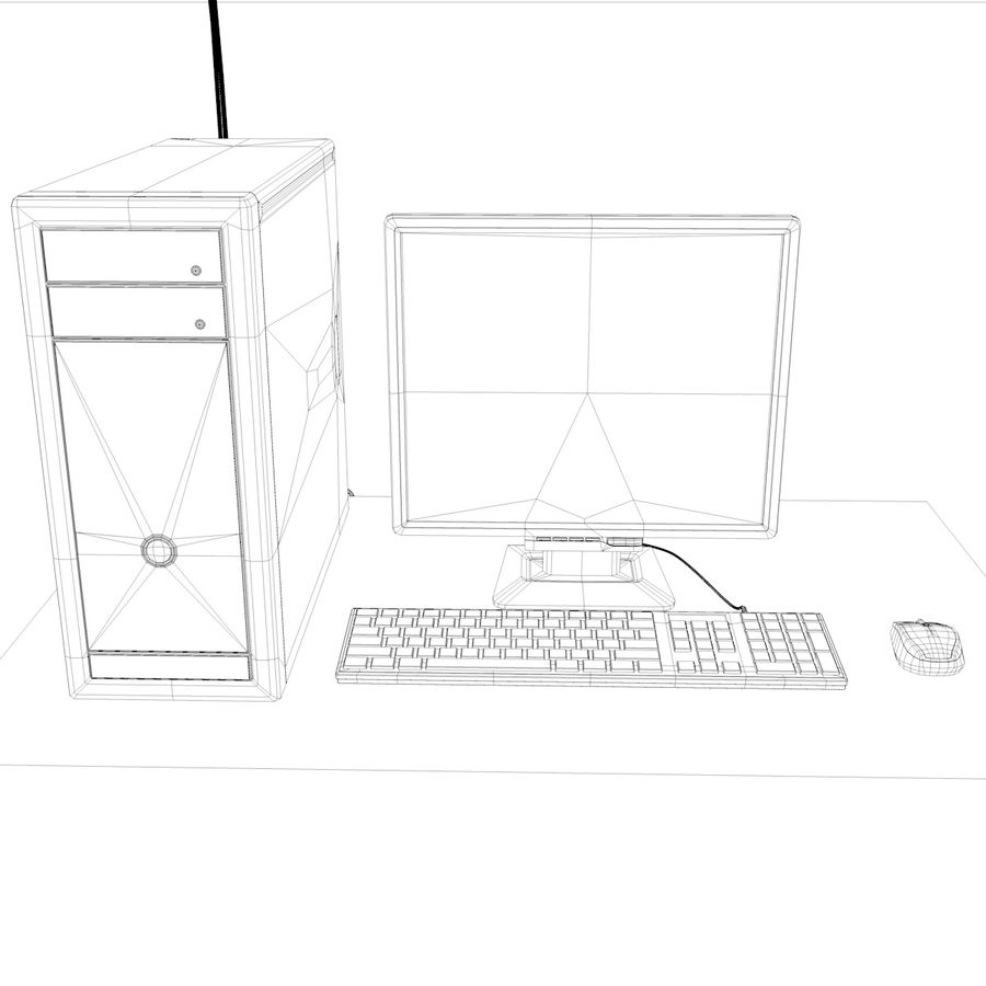Computer royalty-free 3d model - Preview no. 17