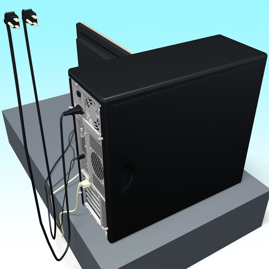 Computer royalty-free 3d model - Preview no. 7