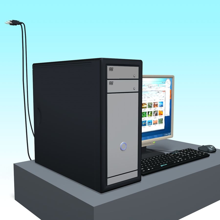 Computer royalty-free 3d model - Preview no. 8