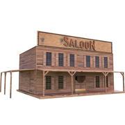 Western House - Saloon 3d model