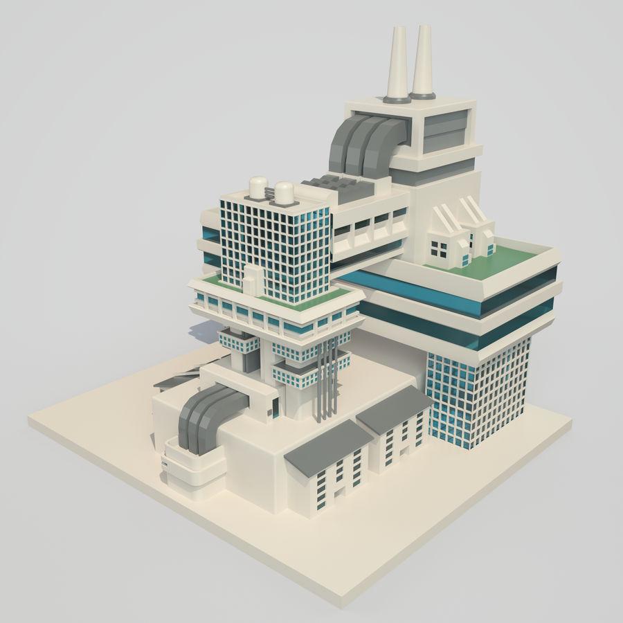 Ciudad del futuro royalty-free modelo 3d - Preview no. 2