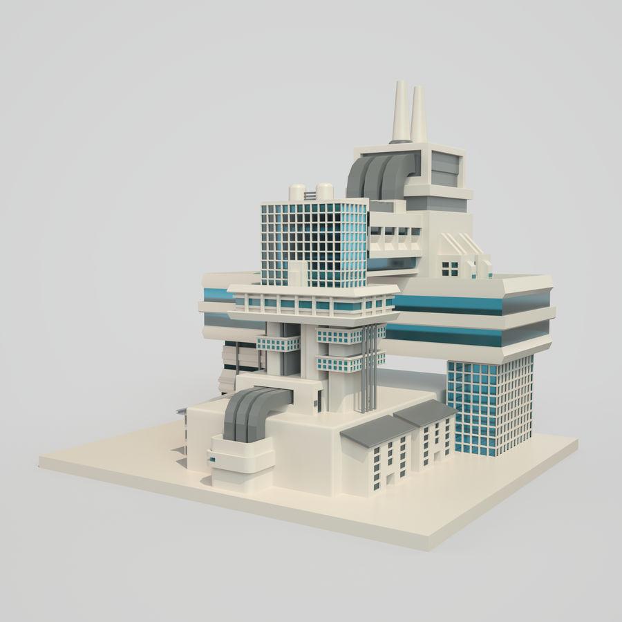 Ciudad del futuro royalty-free modelo 3d - Preview no. 6