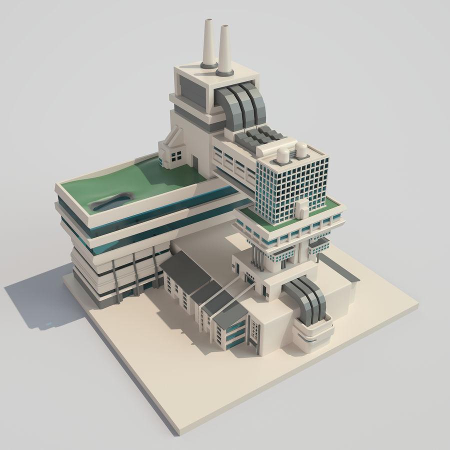 Ciudad del futuro royalty-free modelo 3d - Preview no. 7