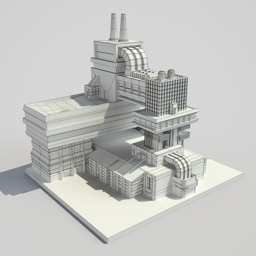 Ciudad del futuro royalty-free modelo 3d - Preview no. 8