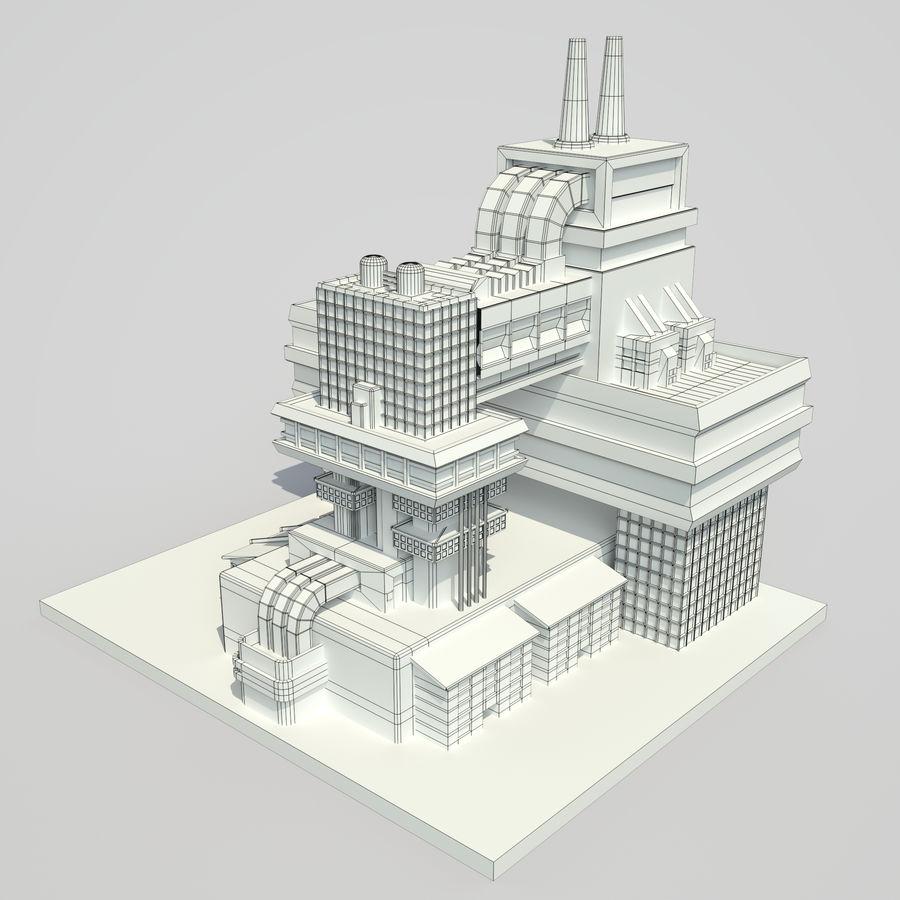 Ciudad del futuro royalty-free modelo 3d - Preview no. 9