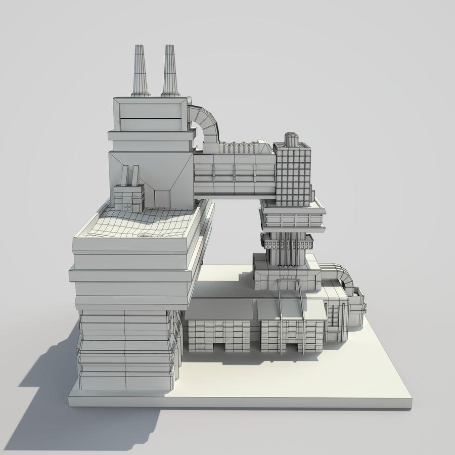 Ciudad del futuro royalty-free modelo 3d - Preview no. 10