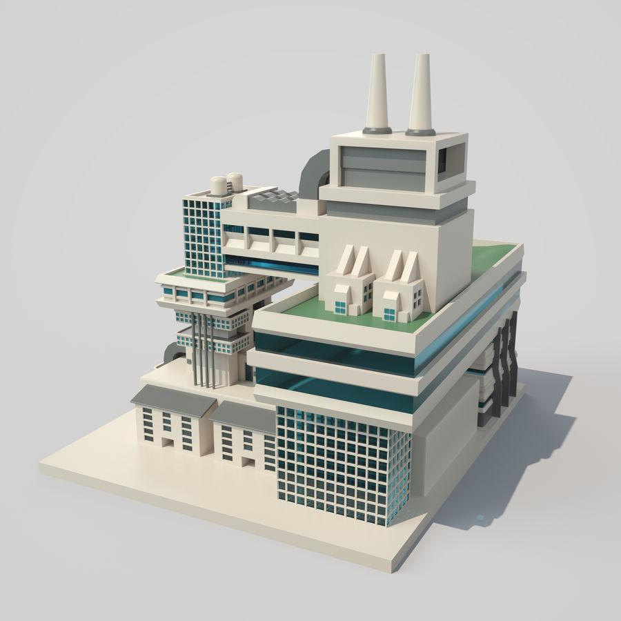 Ciudad del futuro royalty-free modelo 3d - Preview no. 5