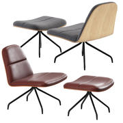 Bloom Upholstered Duet Lounge Chair 3d model