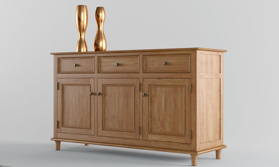 Laura Ashley Aylesbury Dining Furniture Set royalty-free 3d model - Preview no. 3
