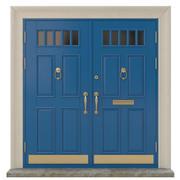 Ingång klassisk dörr 18 3d model
