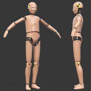 Maya 용으로 제작 된 십대 충돌 테스트 더미 3d model