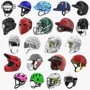 Sport Helmets Collection 6 3d model