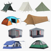 Camping Tents Collection 5 3d model
